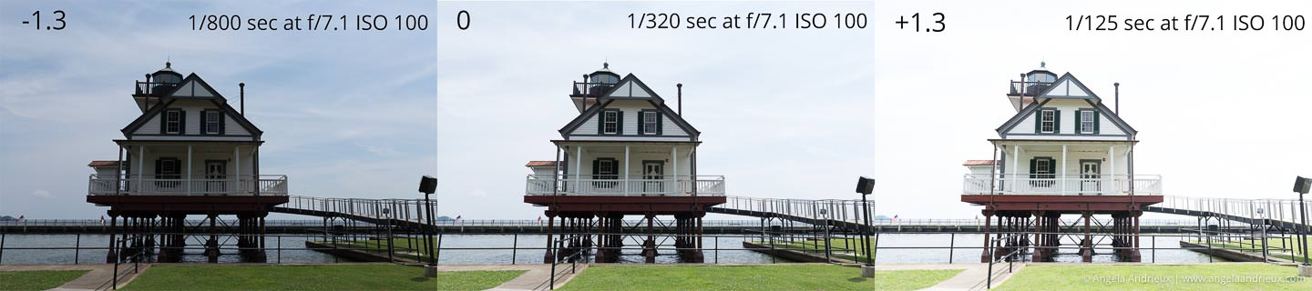 Bracketed shots of the Roanoke River Lighthouse in Edenton, NC