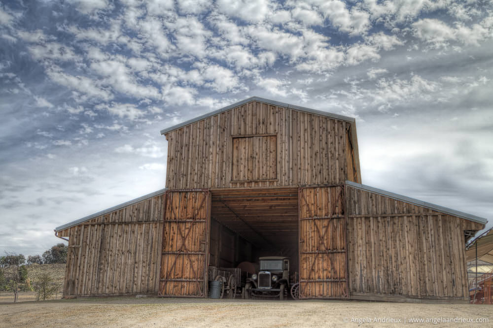 Processed with Topaz Clarity | Barn and Vintage Truck | Antique Gas and Steam Engine Museum | Vista | California