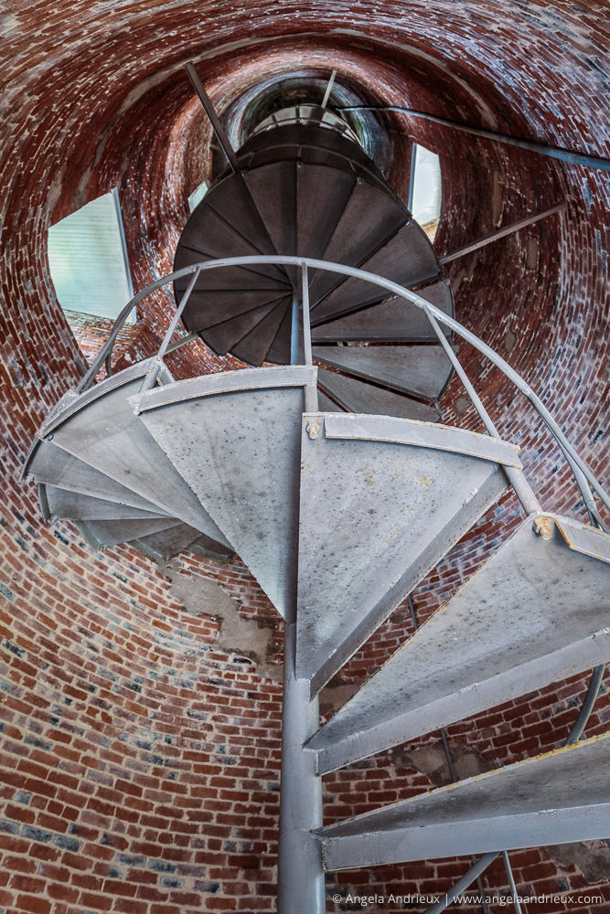 Ocracoke Island Lighthouse Spiral Staircase | Outer Banks | North Carol
