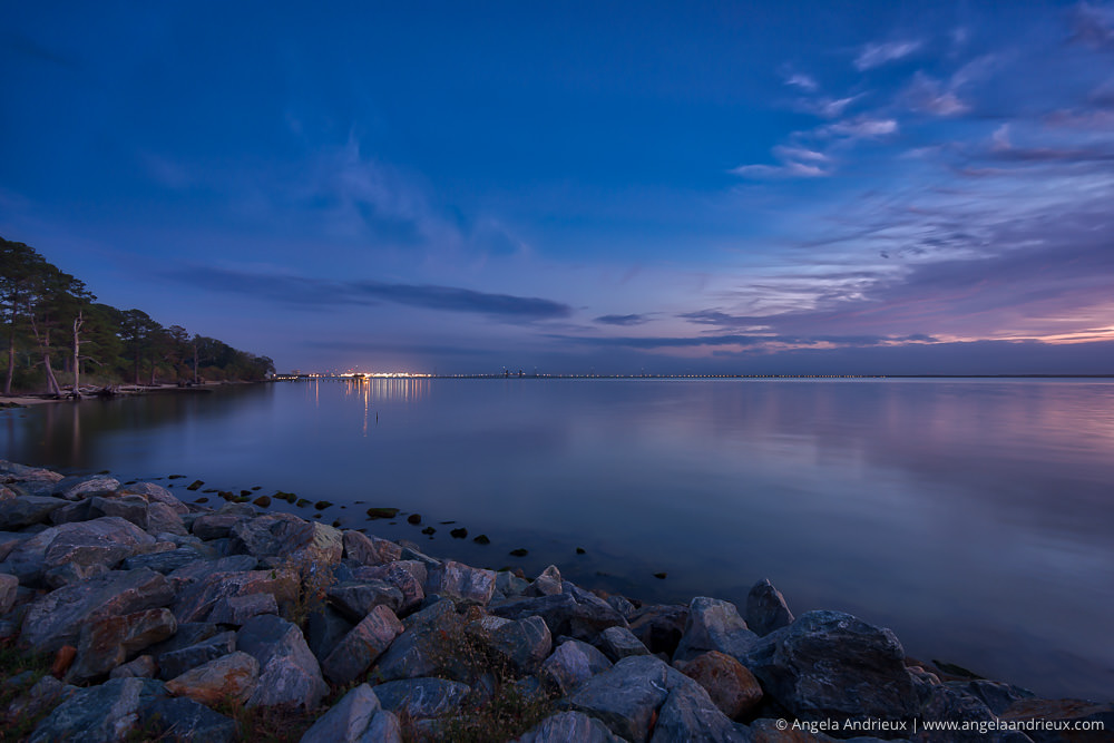 Blue Hour on the James River | Newport News | Virginia