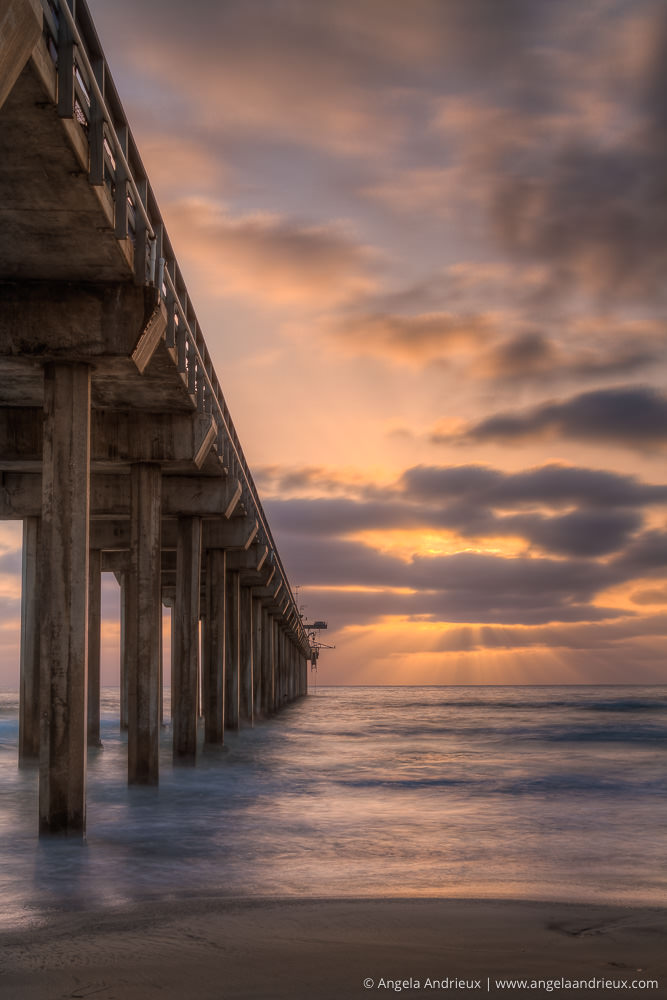 Heavenly Sunset at Scripps Pier | La Jolla | California