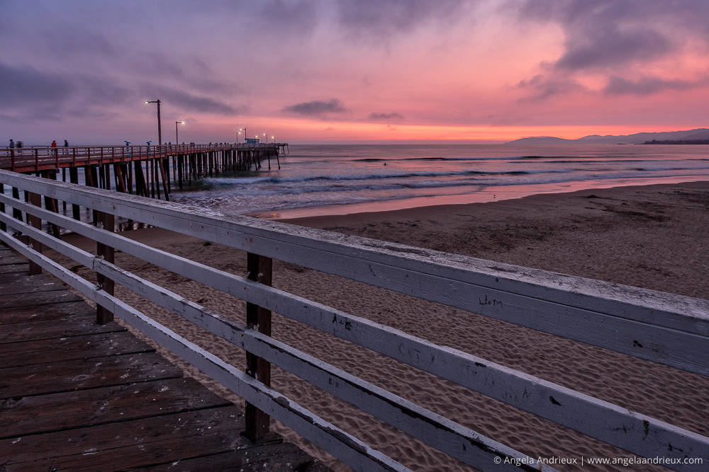 Last Glow in Pismo | Pink Sunset at the Pismo Beach Pier | California
