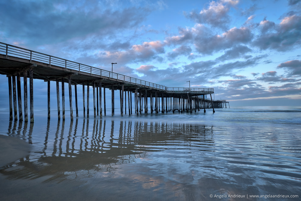 Early Morning Reflections | Pismo Beach Pier at Sunrise | California