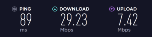 Speedtest with NordVPN Enabled