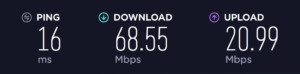 Speedtest with NordVPN Disabled