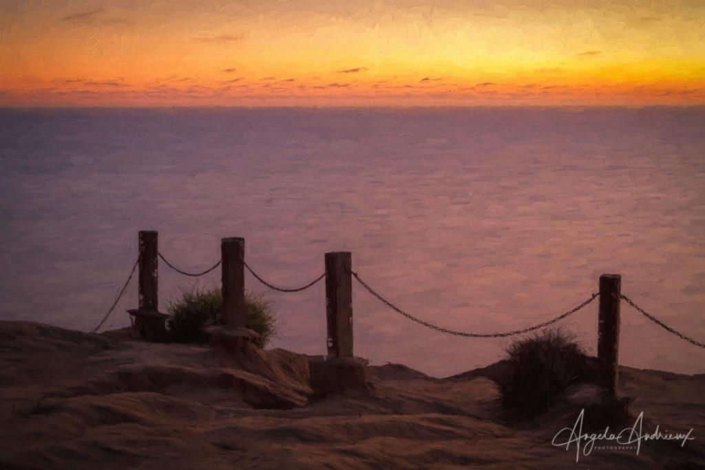 Torrey Pines Gliderport Sunset | Topaz Impression | Topaz Spring Sale