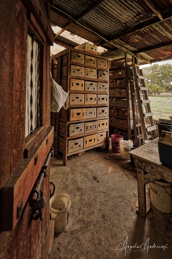 Harmony Pottery Storage Room | California