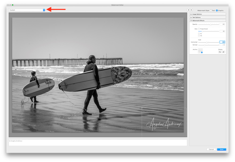 Save Photologo in Lightroom