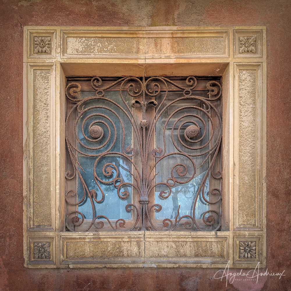 Wrought Iron Window | Caltagirone | Sicily | Italy | After Topaz AI Clear