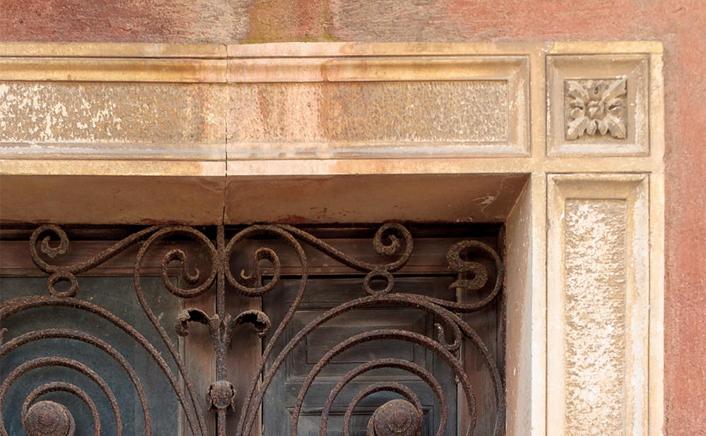 Wrought Iron Window | Caltagirone | Sicily | Italy | Before - Zoom View