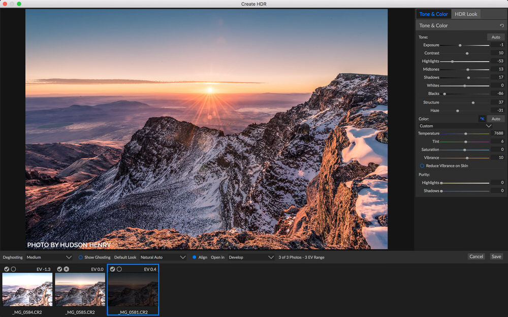 On1 Photo RAW 2019 HDR