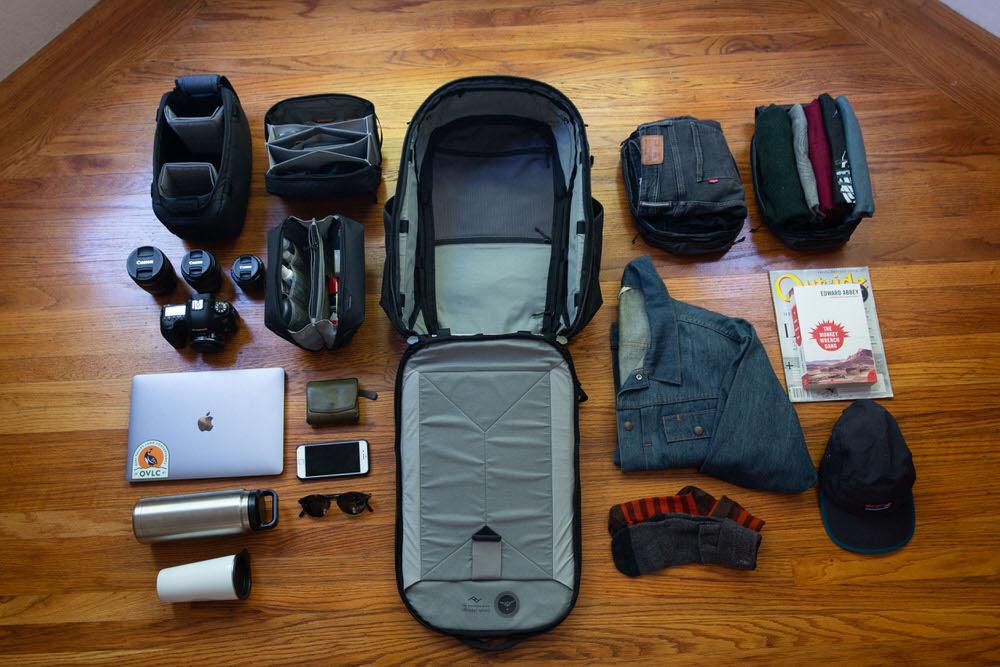 Peak Design Travel Line - Packing with Cubes