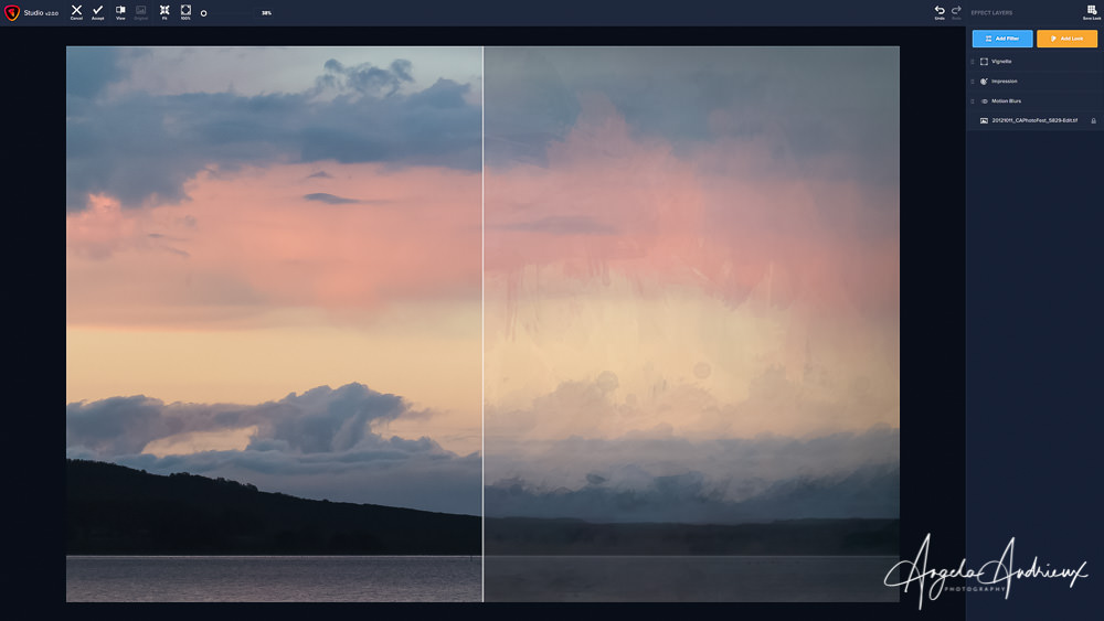 Sunrise Clouds Before and After Topaz Studio 2