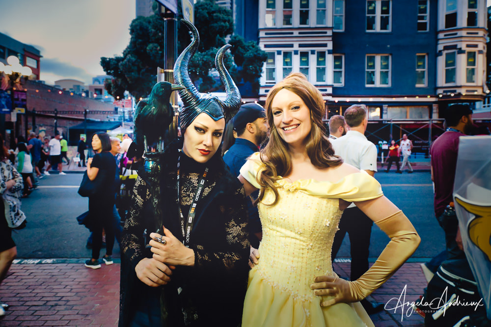 Maleficent and Belle at San Diego Comic-Con 2019