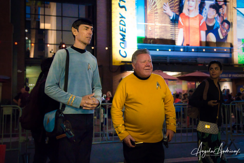 Mister Spock and Captain Kirk at San Diego Comic-Con 2019