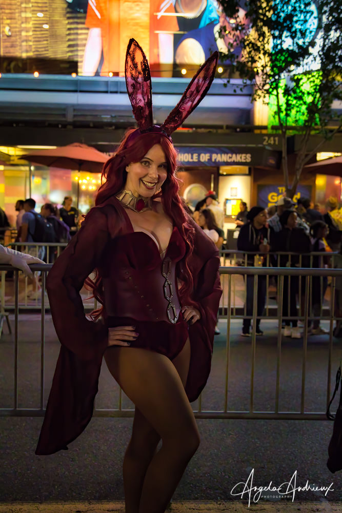Melisandre Playboy Bunny Mashup at San Diego Comic-Con 2019