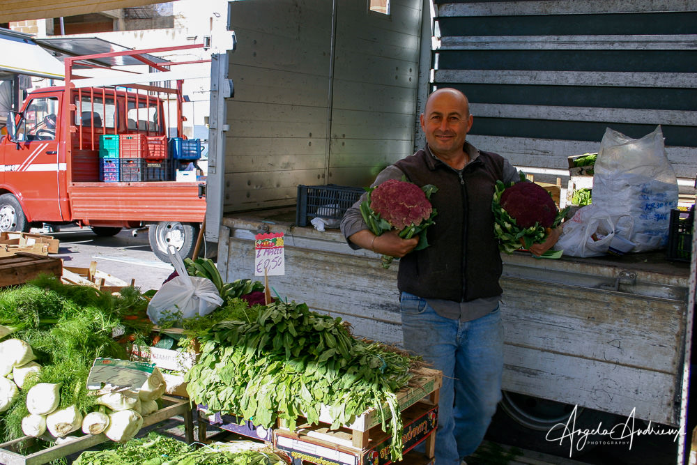 Vegetable Vendor in Mineo | Sicily | Italy