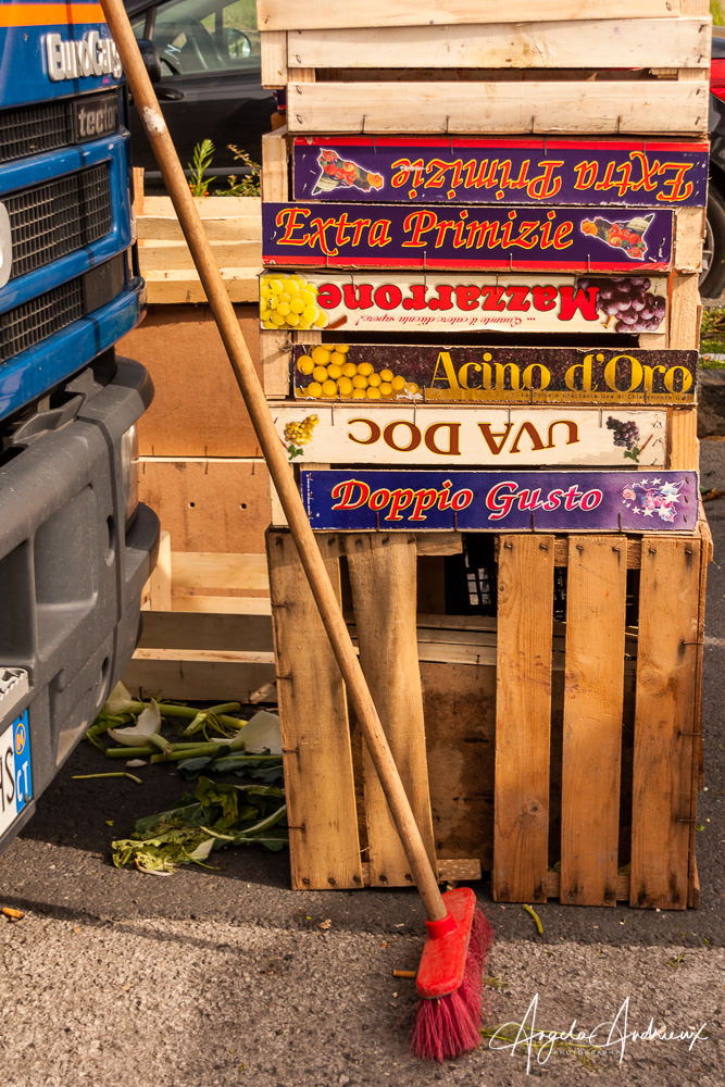 Frut and Vegetable Crates | Caltagirone | Sicily | Italy