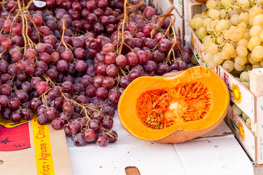 Grapes and Squash | Caltagirone | Sicily | Italy