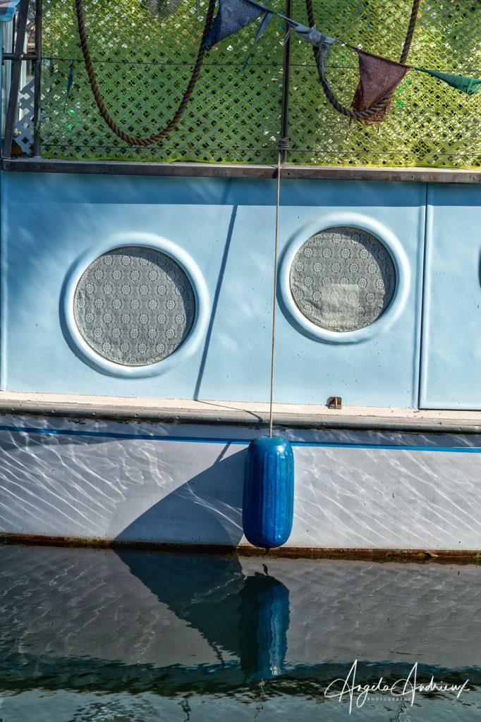Boat Face in the Santa Barbara Harbor