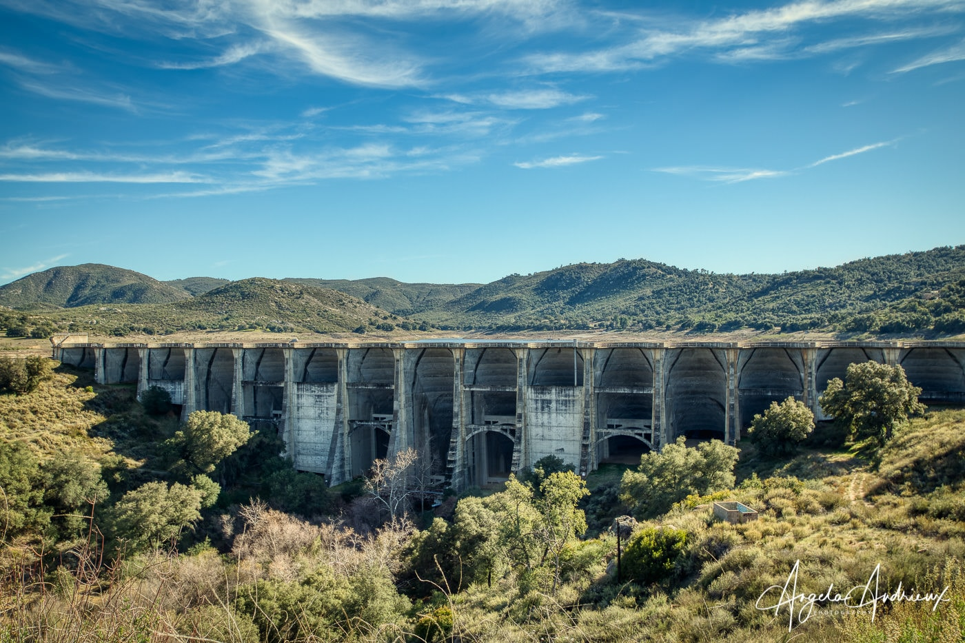Sutherland Dam in Ramona, California