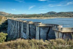 Sutherland Dam in Ramona, California