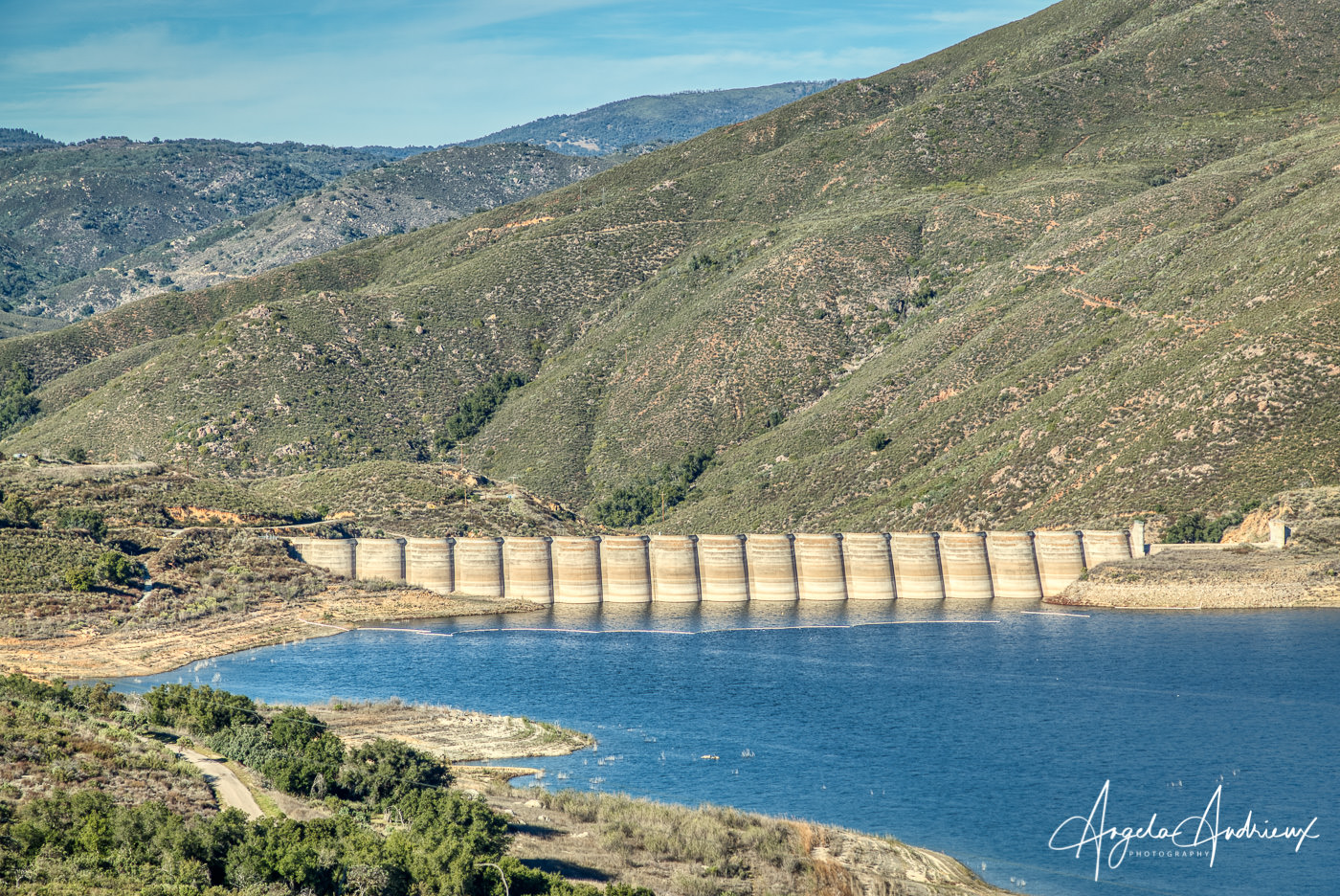 Sutherland Recevoir with the Sutherland Dam in the background, Ramona, CA