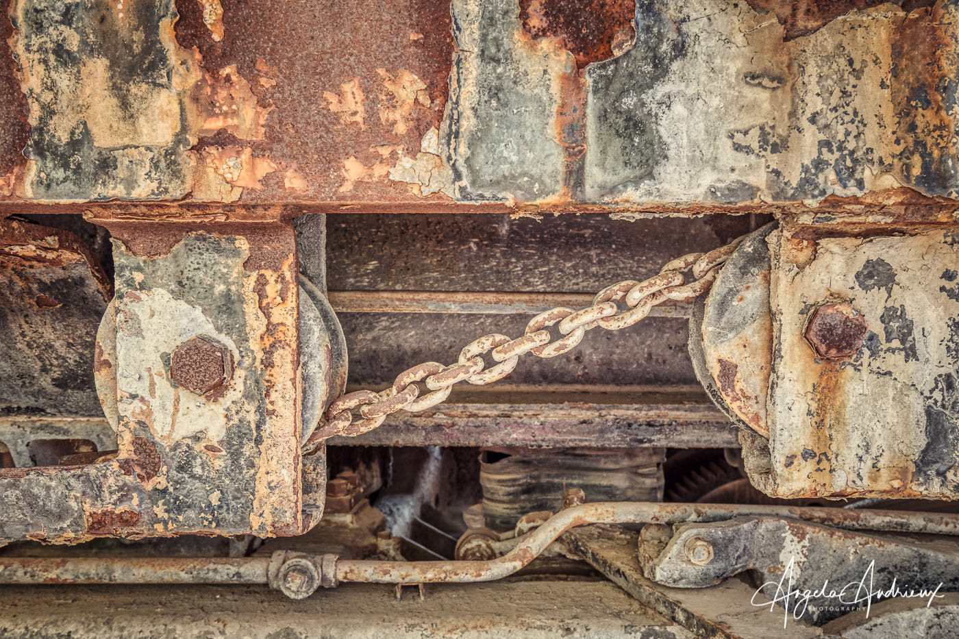 Rust and Chains at the Pacific Southwest Railway Museum in Campo, California