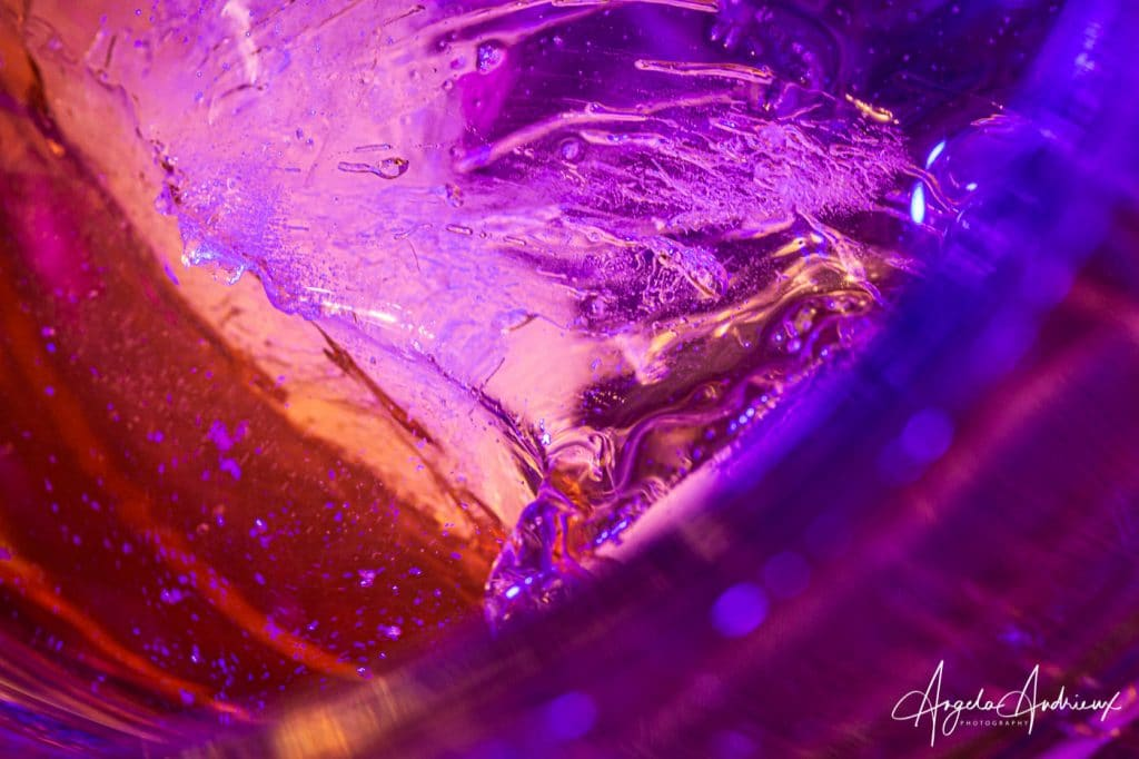 Pink, Purple and Orange ice detail
