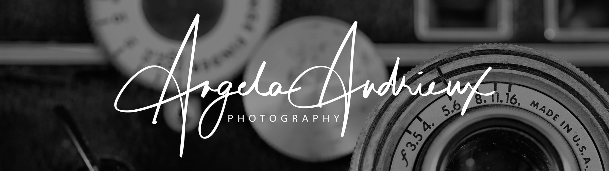 Vintage Argus Rangefinder Camera, aka - The Brick with Angela Andrieux Photography logo