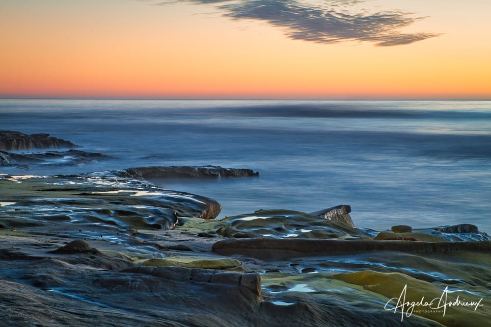 Sunset long exposure in La Jolla, California