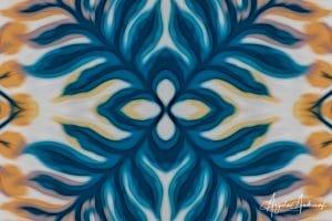 Turquoise and Yellow Photo Mandala