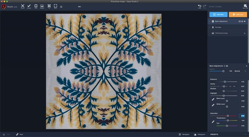 Stylizing a photo mandala in Topaz Studio 2