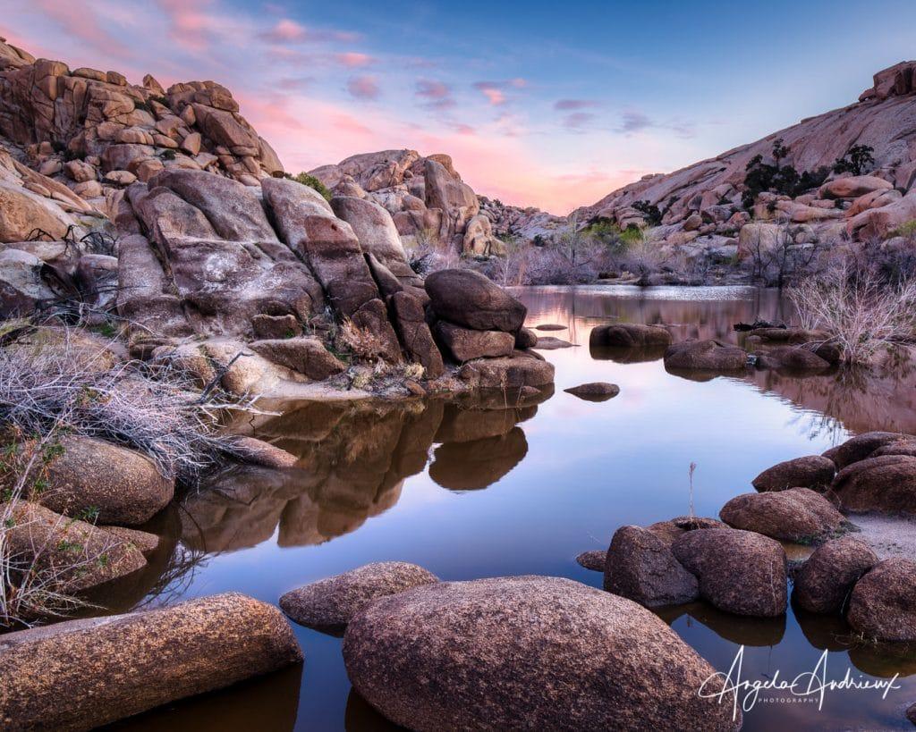Barker Dam Sunrise in Joshua Tree National Park