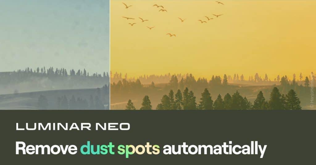 Luminar Neo   Remove dust spots automatically