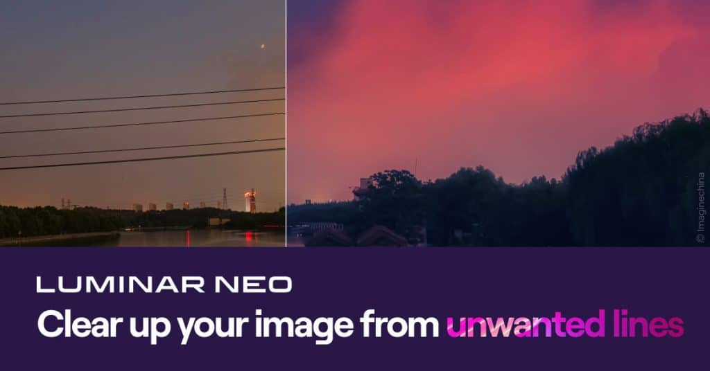 Luminar Neo   Clear up your image from unwanted power lines