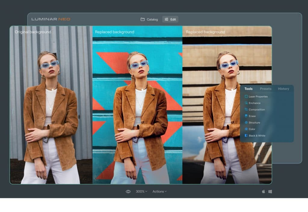 Portrait Background Removal AI in Neo
