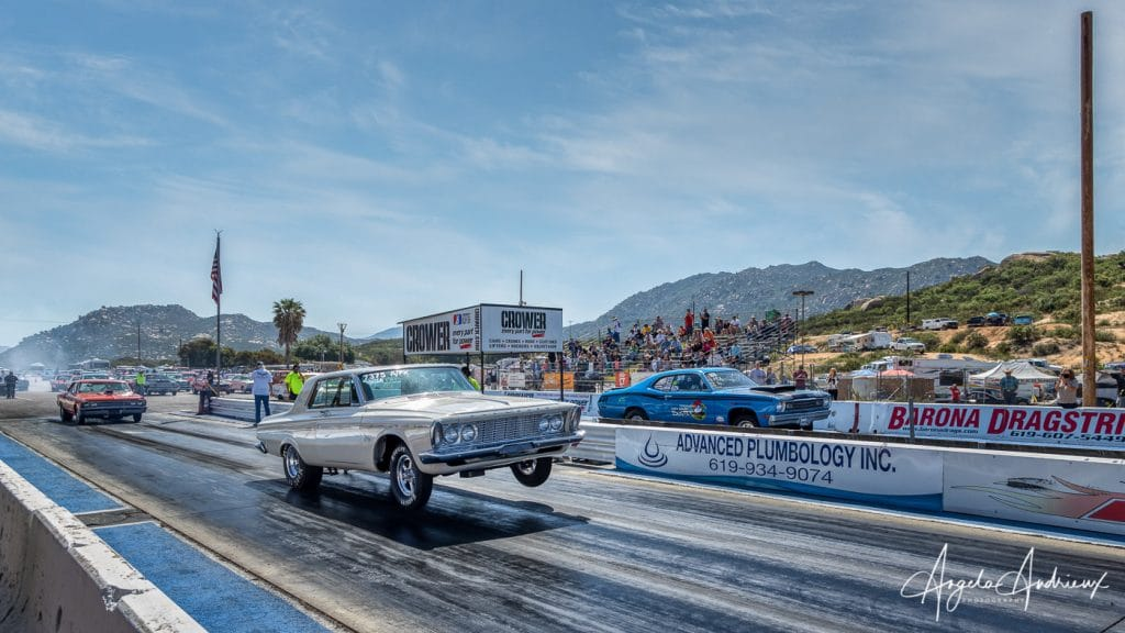 Starting line at the Barona Drags